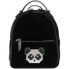 Les Petits Joueurs pixel panda patched backpack (£490) ❤ liked on Polyvore featuring bags, backpacks, black, panda bag, daypack bag, knapsack bag, day pack backpack and panda bear backpack