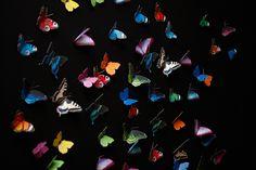 """Wand-Deko+""""Schmetterlinge-MEGAPACK""""+(doppelseitig)+von+Paperwolfs+Shop+auf+DaWanda.com"""