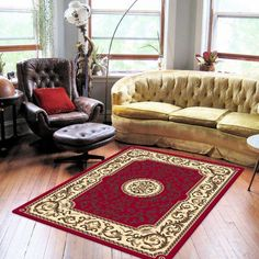 TRADITIONAL RUBY ROUND PATCH RUGS