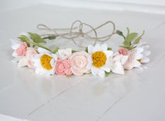 Felt Floral Flower Crown  Pretty Pastels  by fLOhRA
