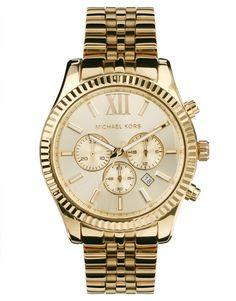 Michael Kors - Lexington MK8281 - Montre chronographe - Doré  #jewelry #bijoux #bracelet #necklace #collier #bracelet #bijouxcreateur