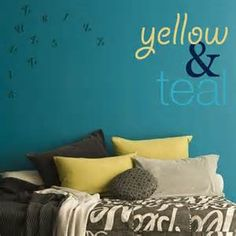 Teal/yellow Decorations - Bing Images