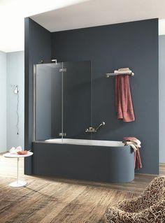 Bathroom Plans, Modern Bathroom, Small Bathroom, Bathroom Ideas, Glass Bathtub, Bathtub Walls, Design Studio, House Design, Bath Screens