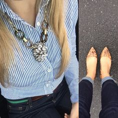 """""""Rain couldn't keep these adorable flats away #ootd #jotd #a_classic_touch #fblogger #fashionblogger #prep #preppy #shinyponies #jcrewcontest"""" Photo taken by @a_classic_touch on Instagram, pinned via the InstaPin iOS App! http://www.instapinapp.com (09/10/2015)"""