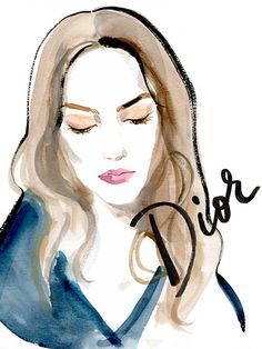 Couture Fashion Week 2015 - Dior Illustration