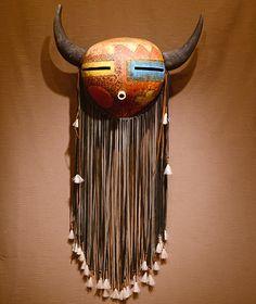 Buffalo gourd mask by robert rivera
