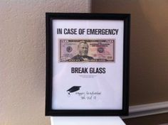 Graduation Gift Frame with money - cute idea instead of the ordinary card #graduation #party