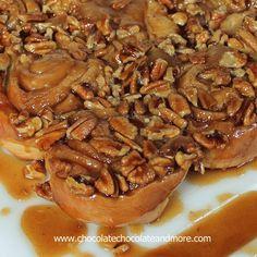 Caramel Pecan Sticky Buns - Chocolate Chocolate and More! LostinCT fav recipe