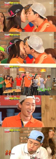 Park Seo Joon and Song Ji Hyo took the 'pepero game' to the next level on 'Running Man'! Poor Gary.