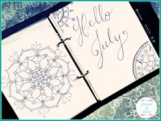 Today I am giving you an inside look into my bullet journal/planner hybrid. | Bullet Journal | Planner | Lettering | Mandala |