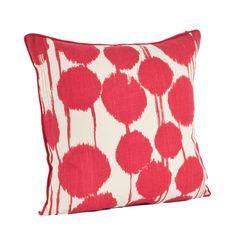 Artistica Inkblot Design Cotton Throw Pillow
