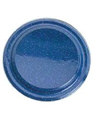 GSI Outdoors 31526 Blue Stainless Steel Rim Enamelware Plate - - Inspired by traditional graniteware, GSI Outdoors enamelware blends old-fashioned charm and functionality into one Camping Equipment, Camping Gear, Camping Outdoors, Steel Rims, Outdoor Store, Camping Essentials, Stainless Steel, Plates, Traditional
