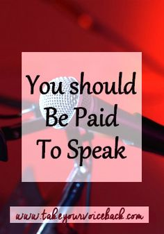 You should be paid to speak. Every time. Organizers will tell you they don't have a budget and that the exposure you get is just as valuable as getting paid. But think about that...THEY get paid to talk to you. Should you get paid to talk to them?