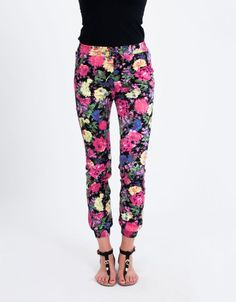 All About Eve Vice Chino Floral