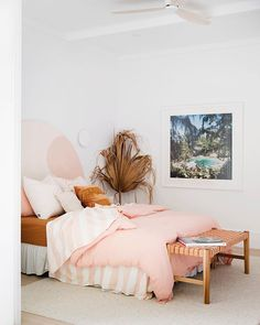 Home Renovation Wall Three Birds Renovations House 10 Bedroom. Wall Art - We're super pumped it's that time of the week again when we get to share more of Home Bedroom, Bedroom Wall, Bedroom Ideas, Cottage Bedrooms, Modern Bedroom, Bohemian Bedrooms, Master Bedroom, Bedroom Colors, Bedroom Beach