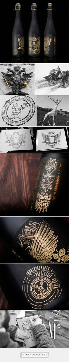 Russian Imperial Stout label design by Unblvbl - http://www.packagingoftheworld.com/2017/02/russian-imperial-stout.html