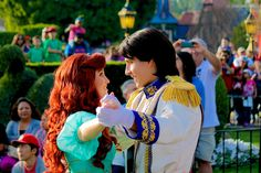 Ariel and Eric from The Little Mermaid