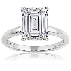 Classic Emerald Cut Solitaire Engagement Ring