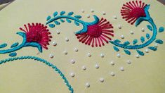 Hand Embroidery: Neckline Embroidery