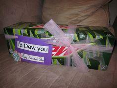 I'd Dew You valentine for the husband!