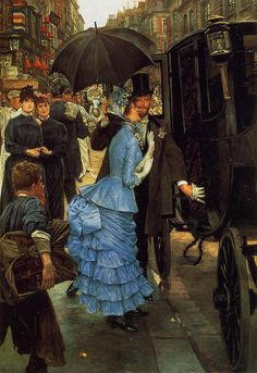 The Bridesmaid (c. 1883-85), by James Tissot. Oil on canvas, 58 x 40 in. (147.3 x 101.6 cm.). Leeds City Art Gallery, U.K