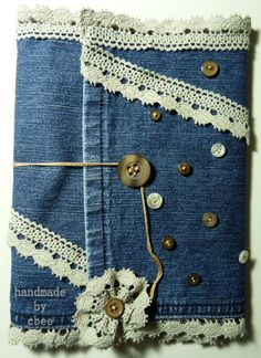 cbee's cards and more: Old Jeans Art Journal