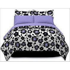 Purple, Black, & White Comforter