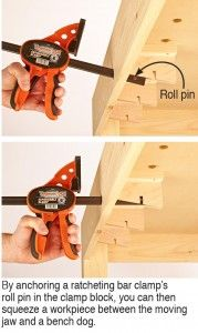 Click To Enlarge - Turn a bar clamp into a vise