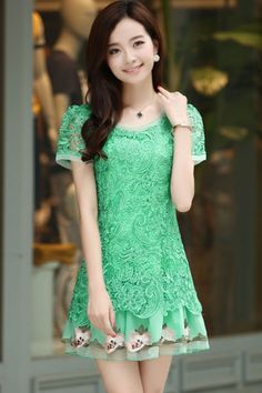 Candy Color Emboidered Dress.  Kinda like this