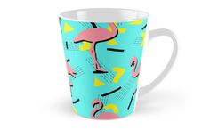 Flamingos Memphis Mug #redbubble #decor #buyart by designdn