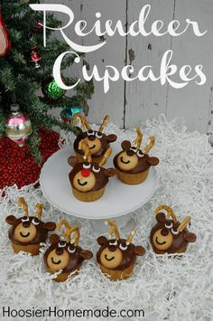 Christmas Inspired Reindeer Cupcakes