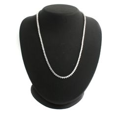 "Epiphany Platinum Clad Sterling Silver Diamonique Tennis 16"" Necklace 857P #Epiphany #Tennis"