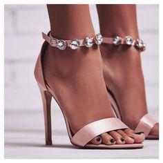 Cassidy Diamante Strap Barely There Heel In Blush Satin. Sign up to newsletter for 15% off discount. #egosquad #egoofficial #shoes #shoesoftheday #fashion #fashiontips #onlineshoes #shoelover #showmyshoes #strapsandals #highheels