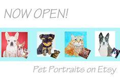 Pet Portraits Etsy Shop - Just Paint It Blog