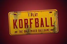 Vintage korfball license plate.