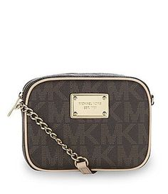 MICHAEL Michael Kors Jet Setter CrossBody Bag i luv this cross-body in vanilla.u can keep more stuff in it than a wristlet and it is not as large as a purse and not as exspensive Michael Kors Outlet, Michael Kors Jet Set, Bad Michael, Fashion 101, Runway Fashion, Valentino Rockstud, Kinds Of Shoes, Old Hollywood Glamour, Dillards