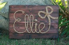 "26"" Personalized western rope name sign baby nursery cowboy theme country and western decor by RiverChicksBoutique"