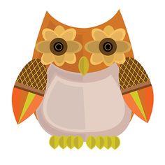 Harvest Owl - Orange http://www.redbubble.com/people/adamzworld/works/10844881-harvest-owl-orange