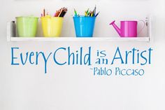 Every Child Is An Artist Childrens Decor Vinyl by JustTheFrosting, $12.00