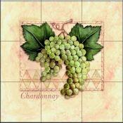 Green Grapes - Tile Mural Decorative Tile Backsplash, Kitchen Backsplash, Tumbled Marble Tile, Fruit Picture, Fruits Images, Tile Projects, Green Grapes, Tile Murals, Beautiful Artwork