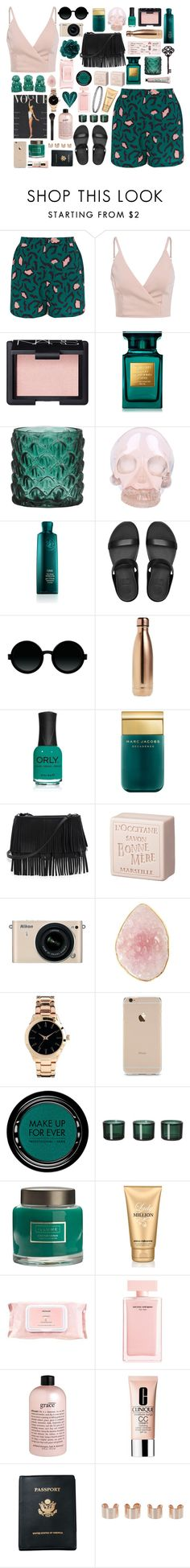 """The Best Thing"" by dailyoutfits0113 ❤ liked on Polyvore featuring Libertine-Libertine, NARS Cosmetics, Tom Ford, Horace, Oribe, FitFlop, Moscot, S'well, ORLY and Marc Jacobs"