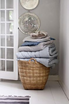 Extra Large Wicker Open Storage Basket from TIne K Home. Beautiful market basket perfect large Laundry basket, log basket, toy or shoe storage etc etc.