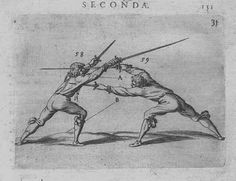 See? Dual wielding does make sense... With a knife. from a 16th century fencing manual- sword and dagger