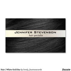 Hair | White Gold Bar Business Card #hairstylist #hair #boutique salon #businesscards #hairspecialist #salonstylist #businessowner