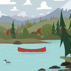 We're Going Canoeing - Lake Crossing - There is nothing quite like being out on the lake, crossing out in the wide open. Canoeing road trip wall art. #canoeingroadtrips #weregoingcanoeing #letsgocanoeingnow #letsgocanoeingtoday #Iwishiwascanoeing #canoeingaddiction #canoeingadventure #Canoeinglifeforme #canoeingart #canoeingartwork