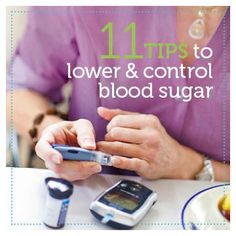 Tips to Lower and Control Blood Sugar