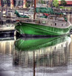 ships. the colour green. green ships.