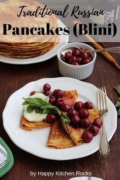 I use this recipe for over 15 years and my pancakes have always come out great. The ingredients of wheat flour, milk, and eggs, though humble, create the foundation of something incredible. Russian Dishes, Russian Recipes, Recipe For 10, Borscht Soup, Vegetarian Main Course, Beet Soup, Happy Kitchen, Milk And Eggs