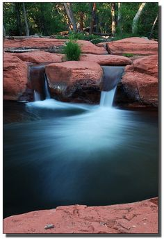 """✯ Beaver Creek - Flagstaff, AZ - Probably not enough """"fall"""" to be a waterfall, but it's a pretty photo."""