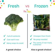Frozen veggies get such a bad rap! 🤔 But did you know that many frozen veggies are actually MORE nutritious than their fresh counterparts?  Frozen veggies are picked at peak ripeness and immediately frozen. So all the nutrients that could possibly be in that veggie are there. Fresh veggies, on the other hand, are often picked several days before they are ripe, and then shipped to your grocery store. School Snacks For Kids, Healthy School Snacks, Healthy Toddler Snacks, Preschool Snacks, Easy Snacks, Hidden Vegetables, Nutritious Meals, Grocery Store, Rap